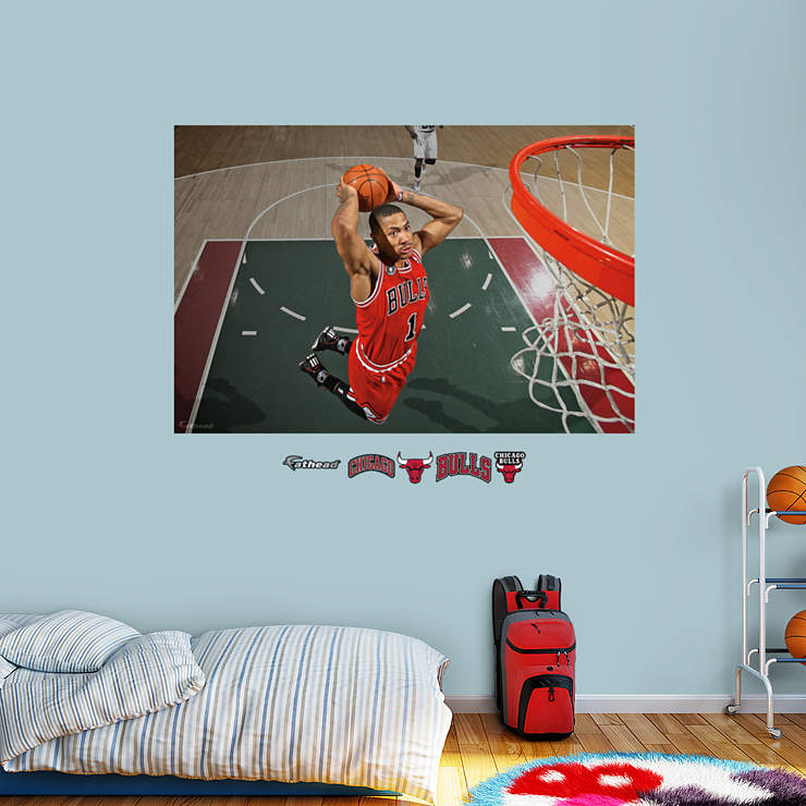 Derrick Rose Mural Wall Decal Shop Fathead For Chicago Bulls Decor