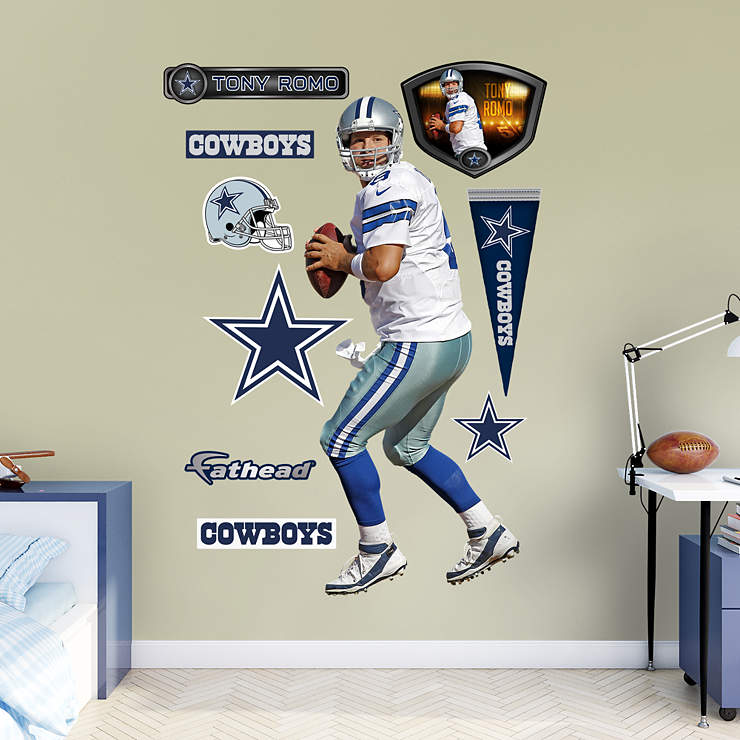 Life Size Tony Romo Home Wall Decal Shop Fathead For