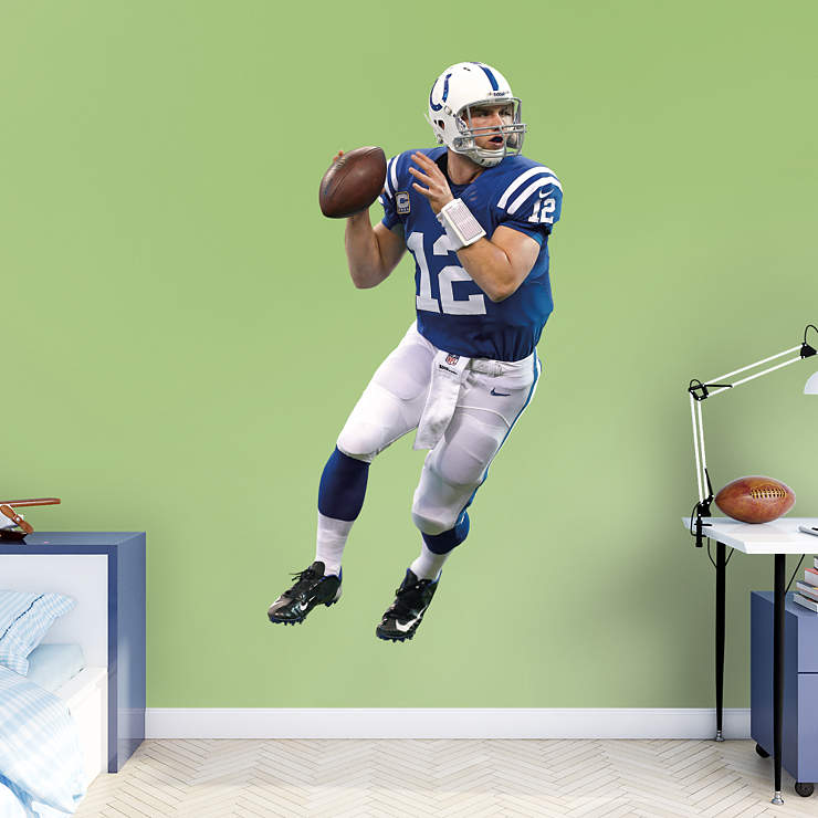 Life size andrew luck home wall decal shop fathead for Colts bedroom ideas