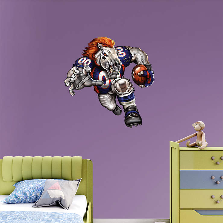 Blistering Bronco Wall Decal Shop Fathead For Denver