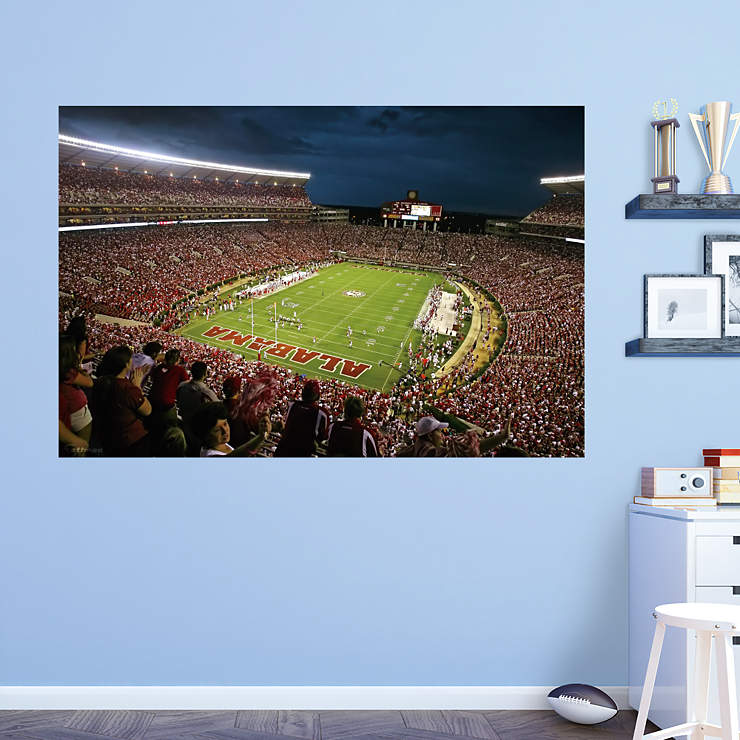 Alabama Wall Mural Of Alabama Bryant Denny Stadium Mural Wall Decal Shop