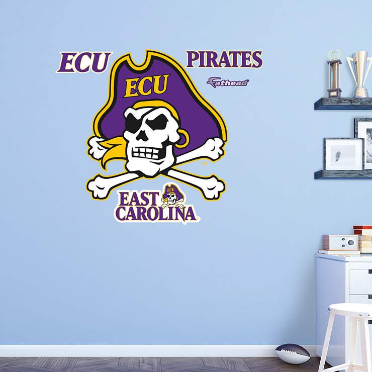 Wall Art Stickers East Rand : East carolina pirates logo wall decal fathead? for