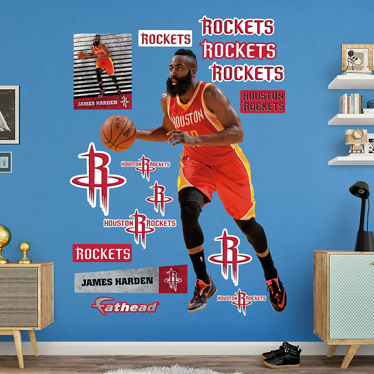 James Harden Back Step: Life-Size James Harden Wall Decal