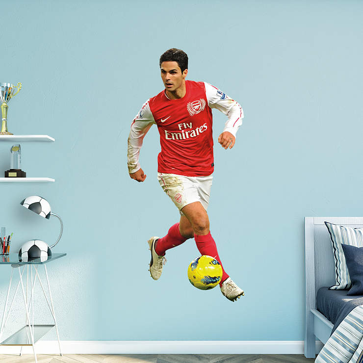 Life size mikel arteta wall decal shop fathead for for Arsenal mural emirates
