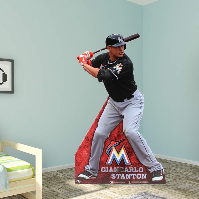 Giancarlo Stanton Of Miami Marlins Says He S Recovering: Life-Size Giancarlo Stanton Wall Decal