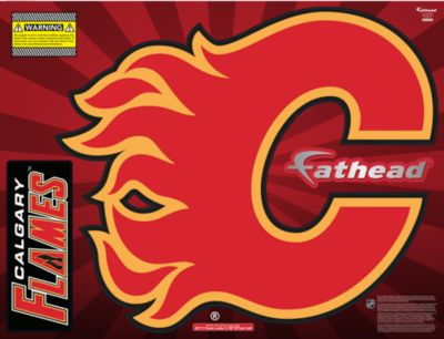 Calgary Flames Street Grip Outdoor Decal