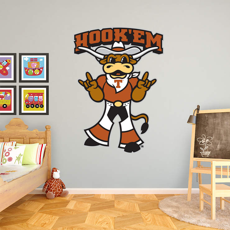 Texas Mascot Hook Em Wall Decal Shop Fathead 174 For