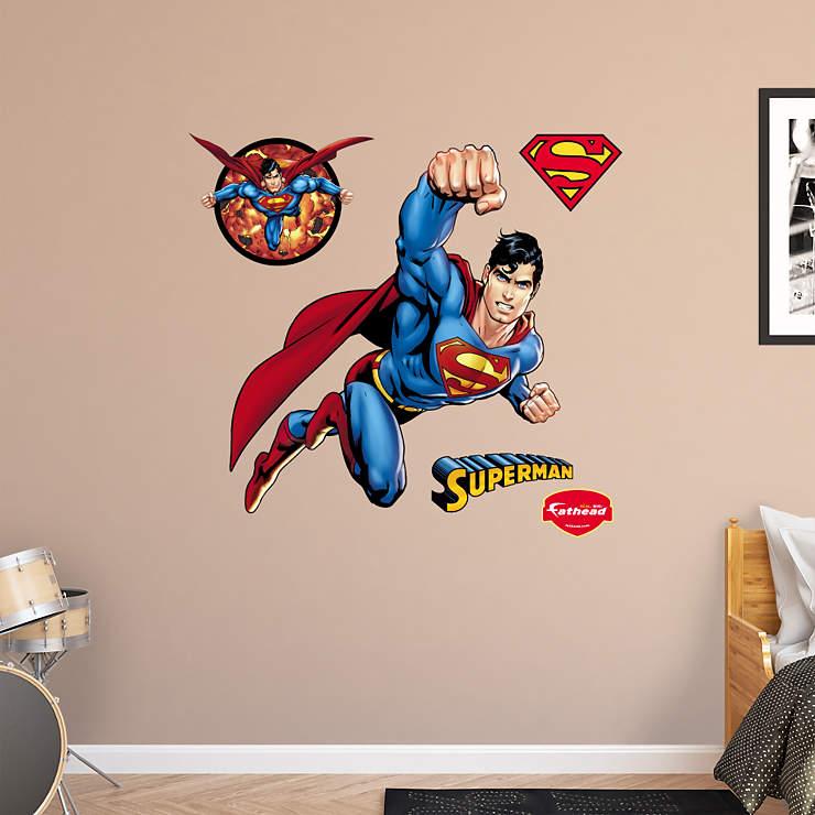 Superman logo superman heroes fathead auto design tech for Superman wall decal