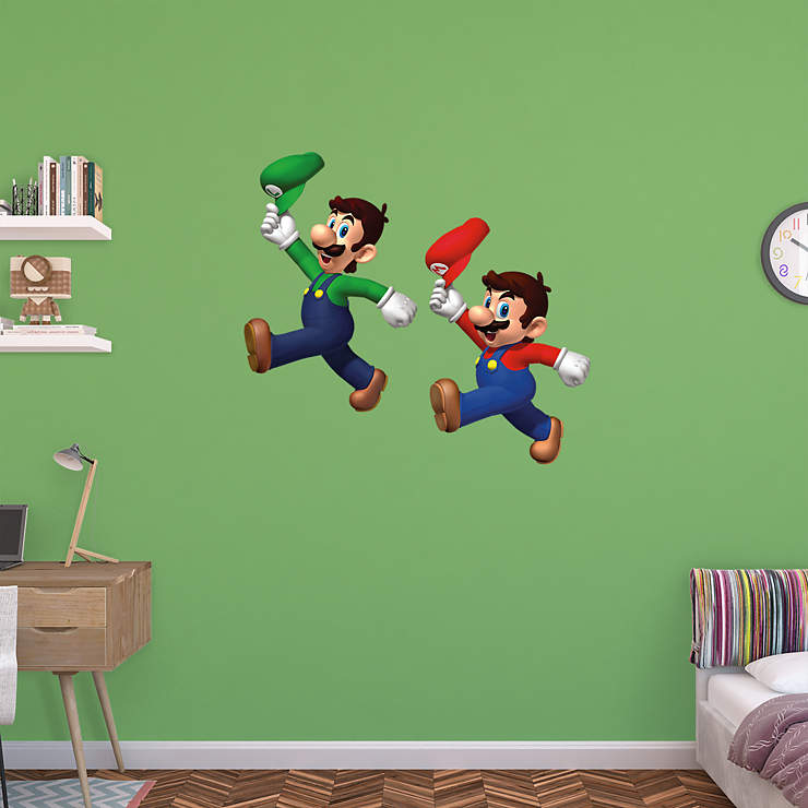 Super Mario Bros Wall Decal Shop Fathead 174 For Mario Decor