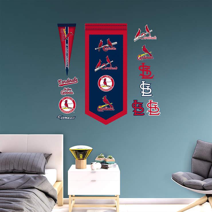 st louis cardinals logo evolution banner wall decal. Black Bedroom Furniture Sets. Home Design Ideas