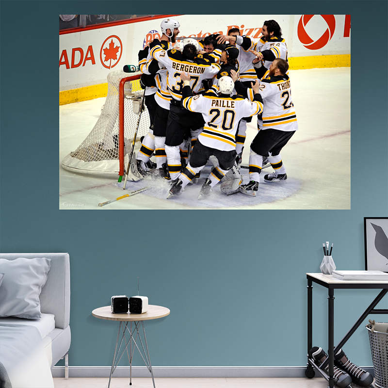 Boston bruins logo wall decal shop fathead for boston for Boston wall mural