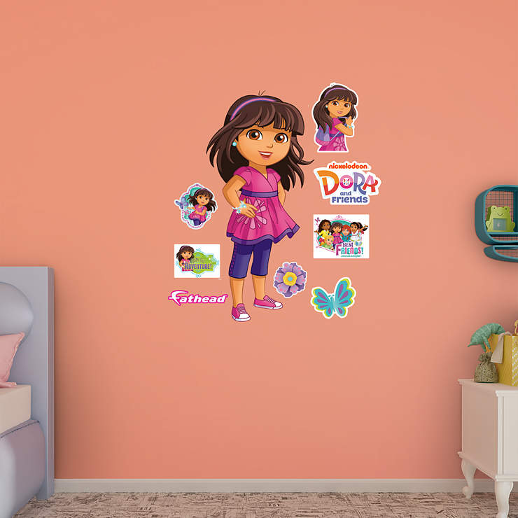 Dora friends wall decal shop fathead for dora the for Dora wall mural