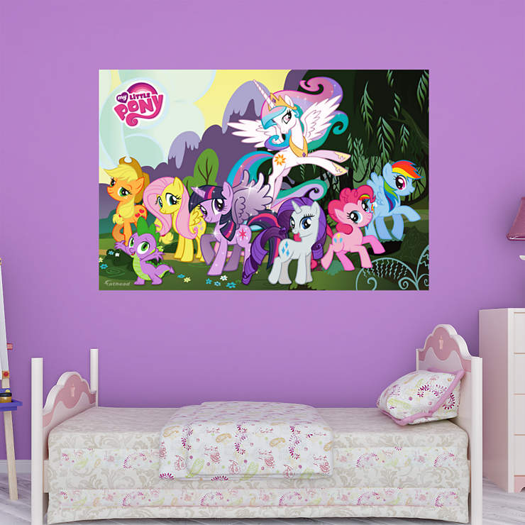 little pony mural wall decal shop fathead for my little pony decor