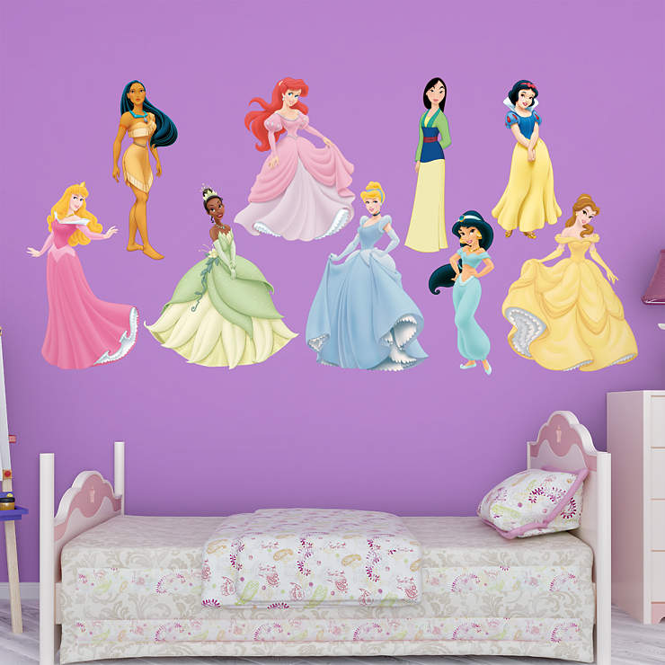 Disney princess collection wall decal shop fathead for for Disney princess wall mural tesco