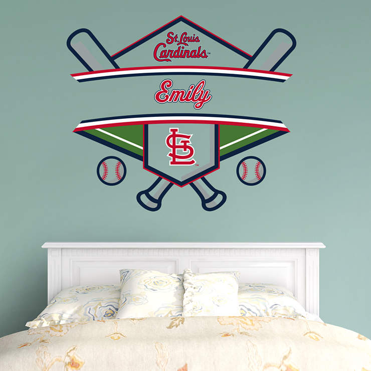 st louis cardinals personalized name wall decal shop. Black Bedroom Furniture Sets. Home Design Ideas