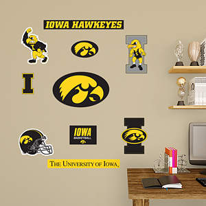 Iowa hawkeyes team logo assortment for Iowa hawkeye decor