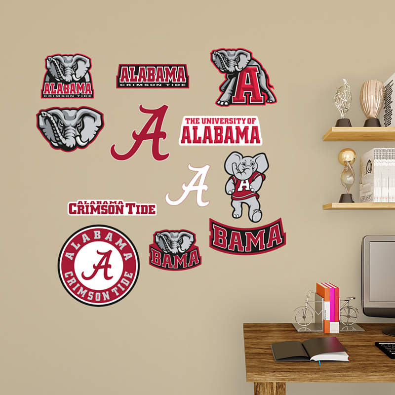 Alabama crimson tide mascot big al wall decal shop for Alabama football wall mural
