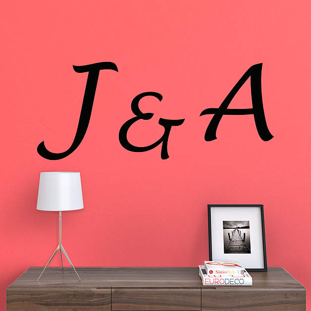 Fathead personalized name and monogram rub on transfer decals