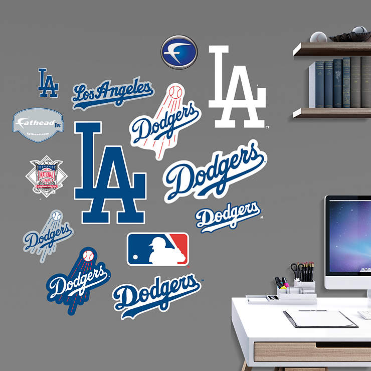 Los angeles dodgers team logo assortment wall decal for Dodger stadium wall mural