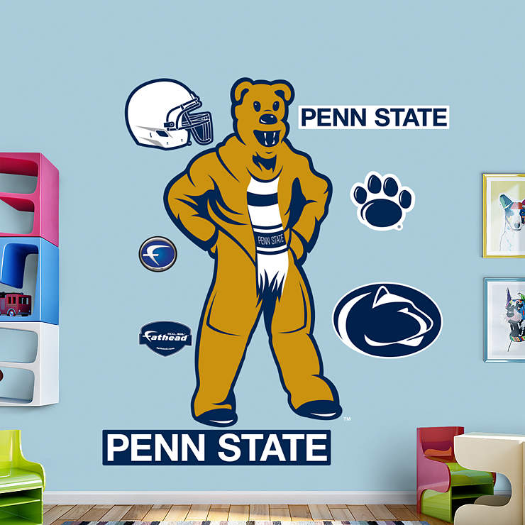 Penn state nittany lions mascot nittany lion wall decal for Beaver stadium wall mural