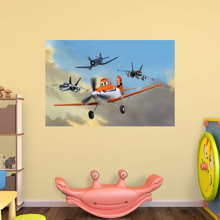 Jolly wrenches mural wall decal shop fathead for disney for Disney planes wall mural