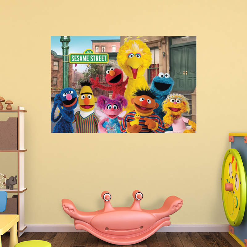 shop sesame street wall decals graphics fathead kids. Black Bedroom Furniture Sets. Home Design Ideas