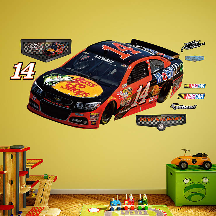 tony stewart 2014 bass pro 14 car wall decal shop. Black Bedroom Furniture Sets. Home Design Ideas