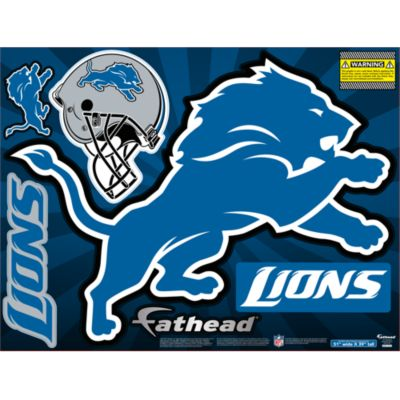 Detroit Lions Street Grip Outdoor Decal