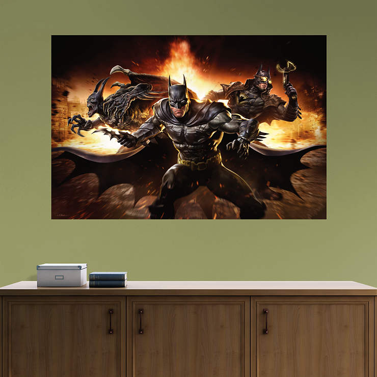 Batman infinite crisis mural wall decal shop fathead for Batman wall mural decal