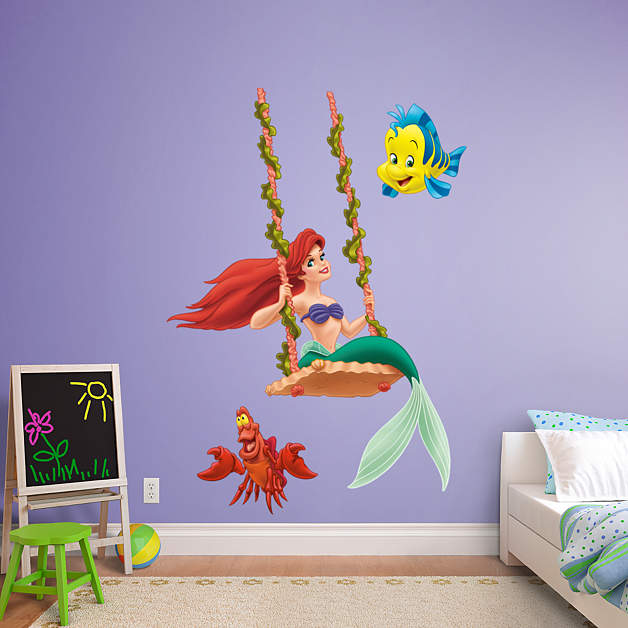 Ariel swinging fathead wall decal for Ariel wall mural