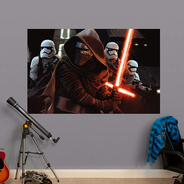 Kylo ren siege mural wall decal shop fathead for star for Siege mural rabattable