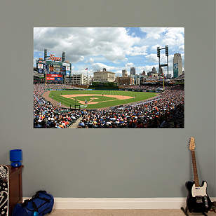Behind Home Plate At Comerica Park Mural