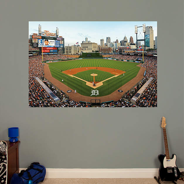 Comerica Wiring Instructions : Behind home plate at comerica park mural wall decal shop