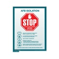 AFB Isolation sign (Small)
