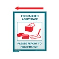 Cashier Assistance Sign (Small)