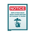 Employees Must Wash Hands sign (Small)
