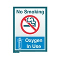No Smoking, Oxygen In Use Sign (Small)