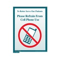 Please Refrain From Cell Phone Use Sign (Small)