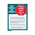 Help Protect Our Patients Sign (Small)