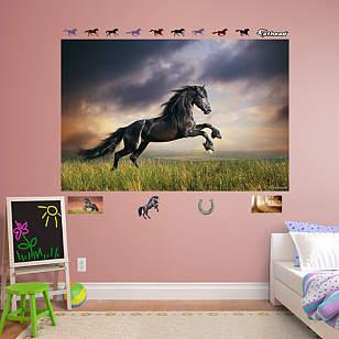Stormy Skies Horse Mural