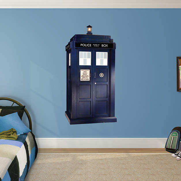tardis wall decal shop fathead for doctor who decor