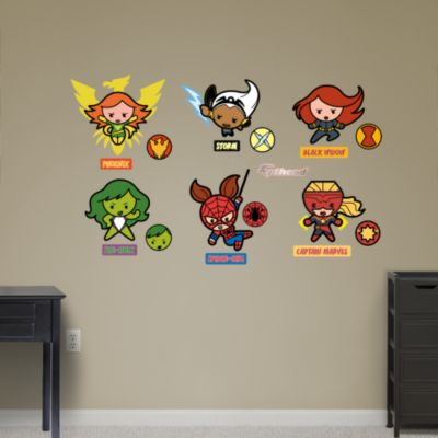 Kawaii Marvel Girl Superheroes Collection Fathead Wall Decal