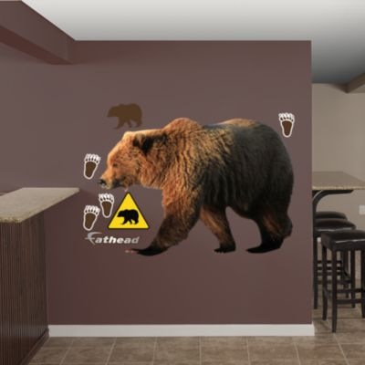 Grizzly Bear Fathead Wall Decal