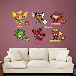 Kawaii Marvel Girl Superheroes Collection