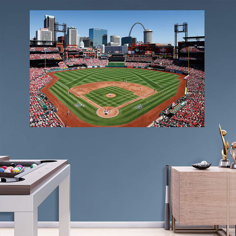 Shop st louis cardinals wall decals graphics fathead mlb for Busch stadium wall mural
