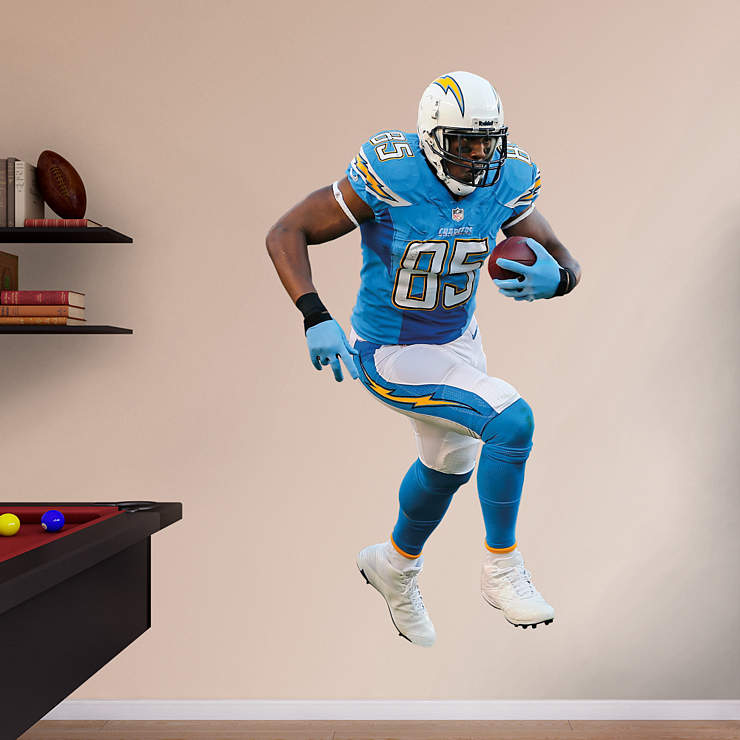 San Diego Chargers Decal: Life-Size Antonio Gates Wall Decal