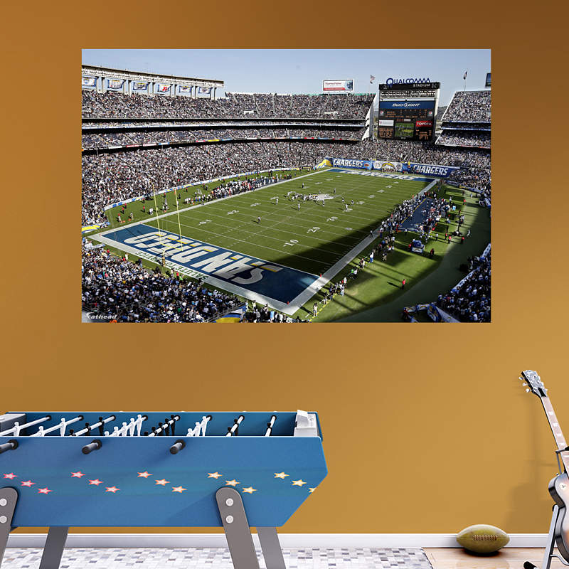San Diego Chargers Football Field: Life-Size Philip Rivers Wall Decal