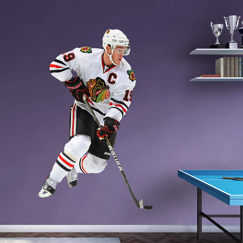Jonathan toews 2013 stanley cup hoist mural wall decal for Blackhawks mural chicago