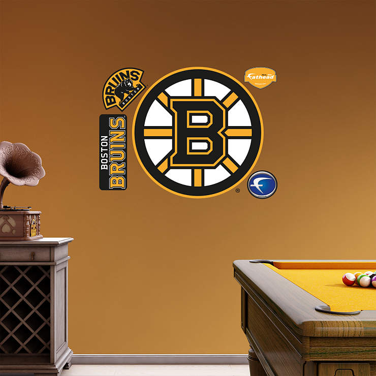Boston bruins logo Bruins room decor