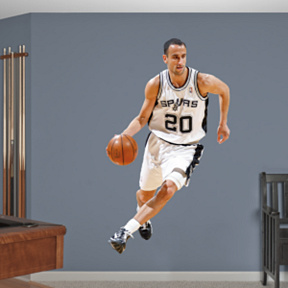 Manu Ginobili Fathead Wall Decal
